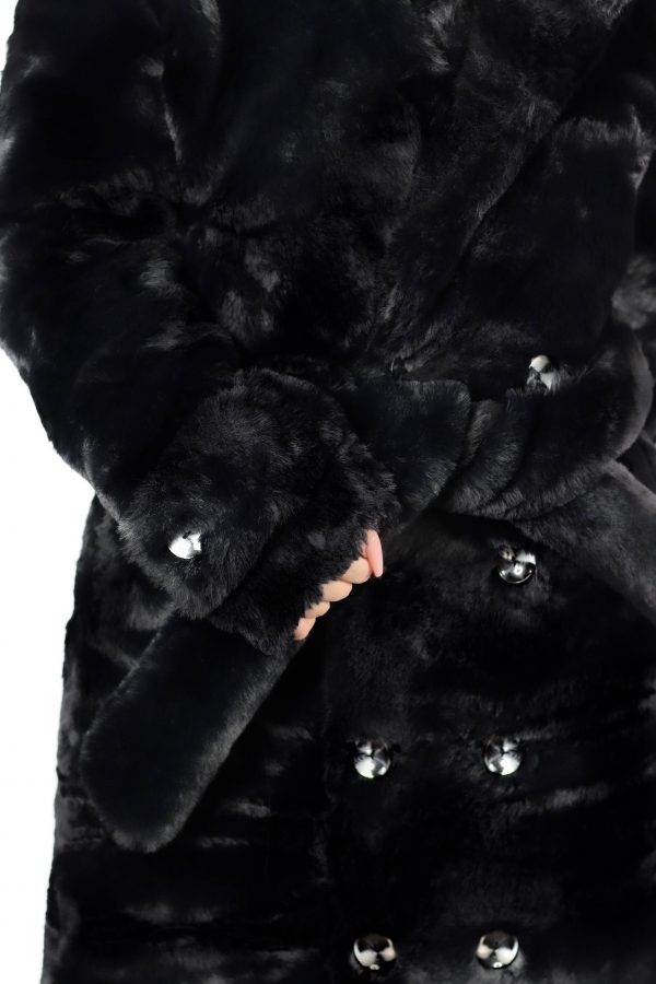 Amalthea Faux Fur Coat Black 5