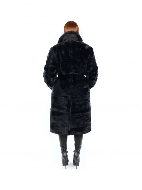 Amalthea Faux Fur Coat Black 2