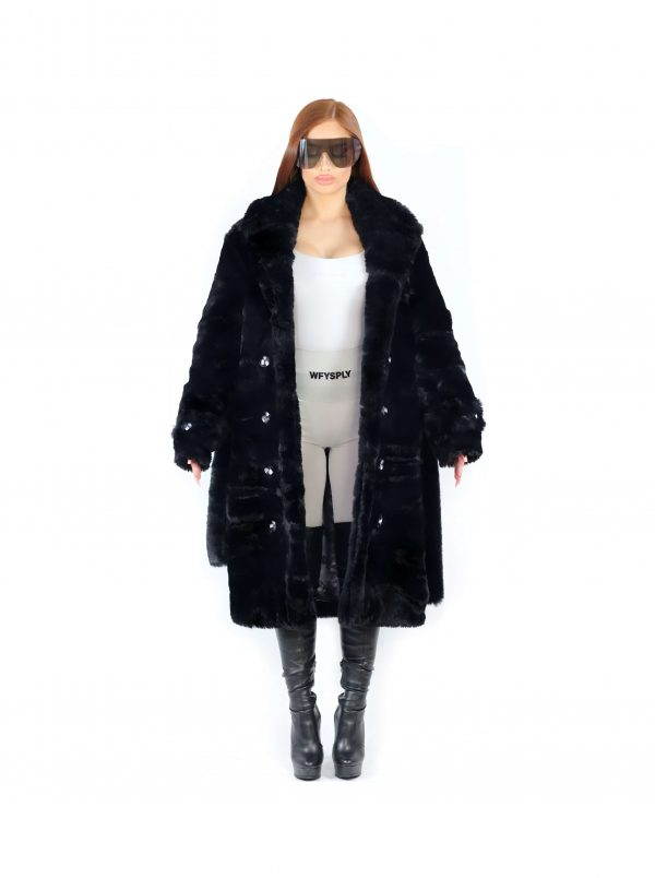 Amalthea Faux Fur Coat Black 3