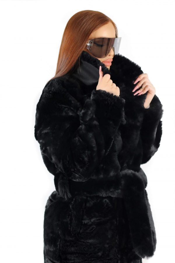 Amalthea Faux Fur Coat Black 4