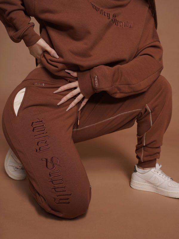 Titan Oversized JOGGER PANTS Chocolate 2