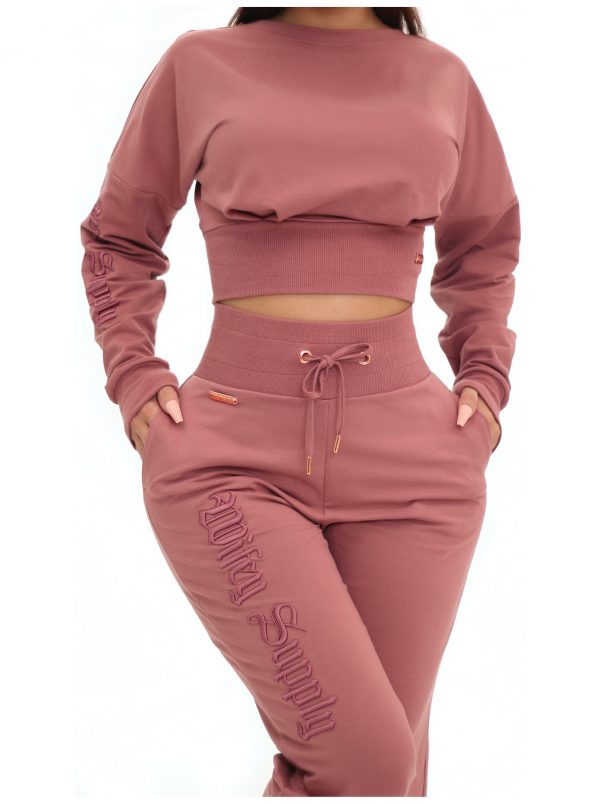 (Pre Order) Thyone Jogger Pants Dusty Rose 3