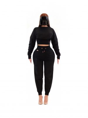 Deimos Crop Sweater Black 6