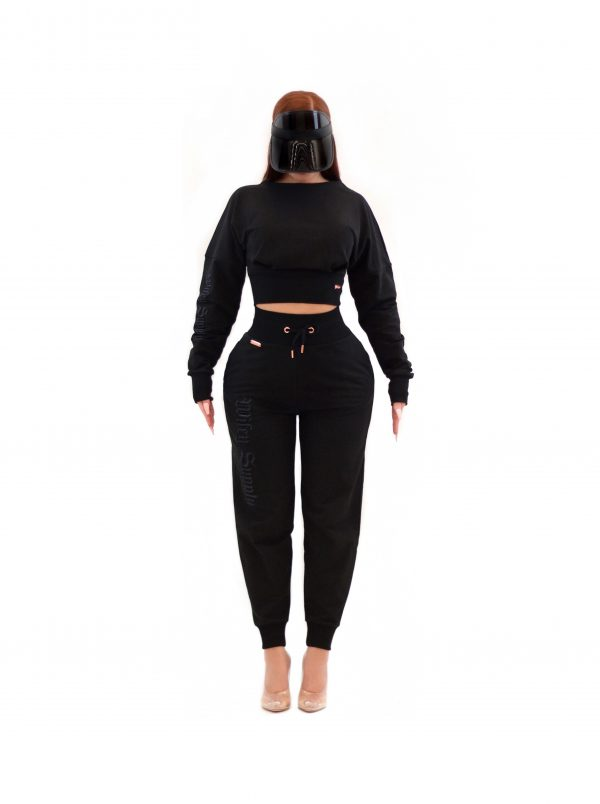 Deimos Crop Sweater Black 2
