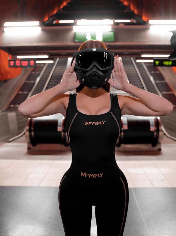 Astro X-Ray Bodysuit Black 1